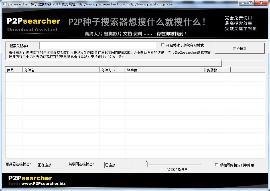 p2p搜索神器最新版_系统位数:32位 软件介绍: 种子搜索神器是基于p2p技术的ed2k资源搜索
